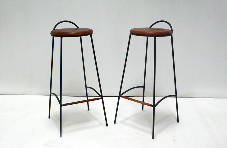 Black Iron Bar Stools
