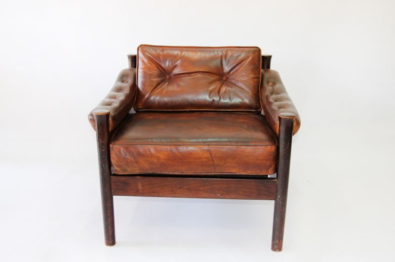 Norwegin Leather Club Chair