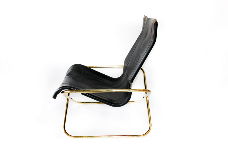 leather folding loung chair